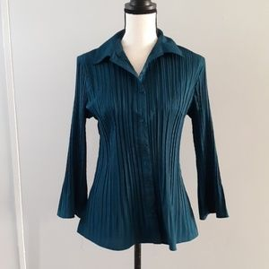 Fred David Stretch button-up blouse